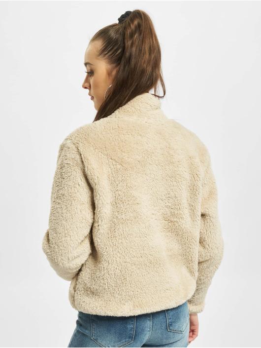 Only Pullover onlDalina 1/2 Zip Teddy beige