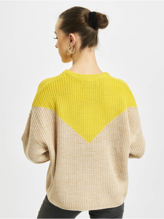 Only Pullover onlSookie Block Knit beige