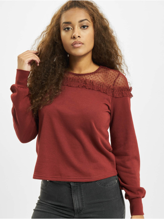 Only Pullover onlCherry Mesh O-Neck brown