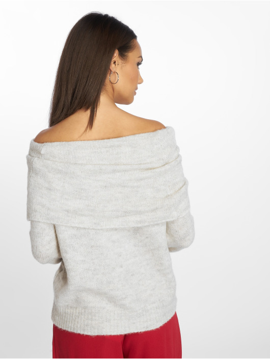 Only Pullover onlBergen Off Should Knit white