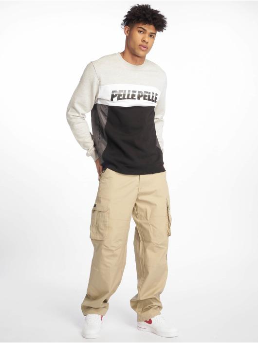 Pelle Pelle Pullover Sayagata Cut Crewneck gray