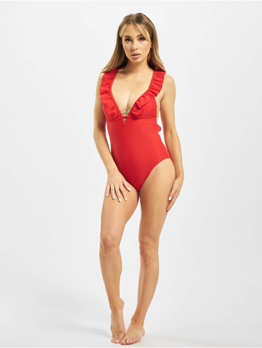 Pieces Bathing Suit pcNabiya red