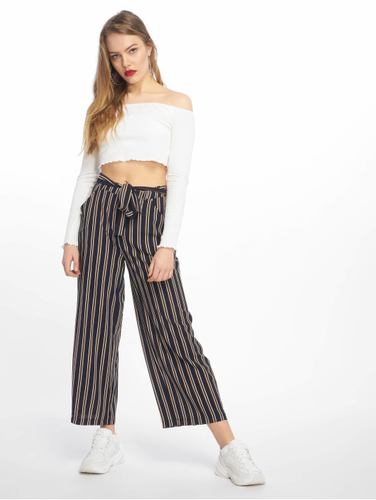 Pieces Chino pants pcNellie Noos blue