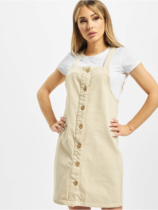 Pieces Dress pcAsli Colored Pinafore beige
