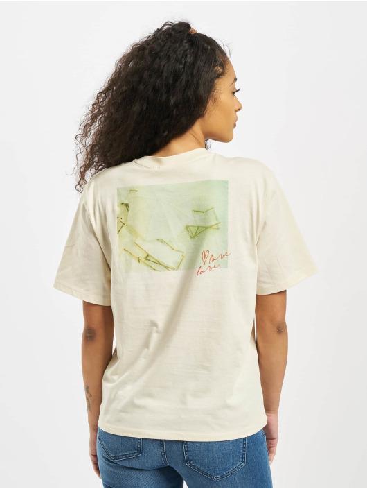 Pieces T-Shirt pcMikani Print beige