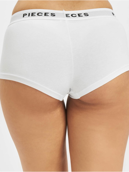 Pieces Underwear pcLogo Lady 4 Pack Solid Noos white