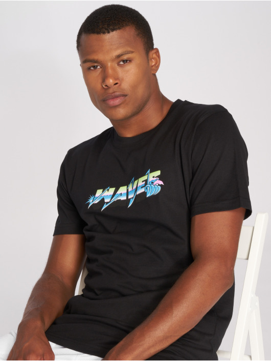 Pink Dolphin T-Shirt Electric Waves black