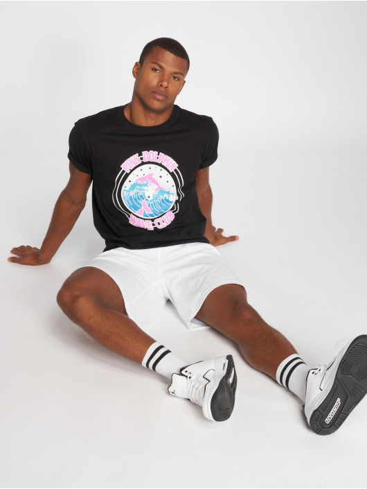 Pink Dolphin T-Shirt Club Crest black