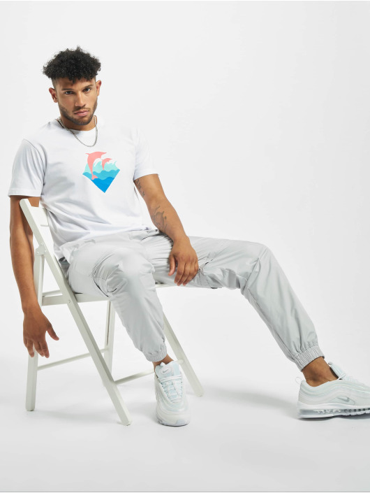 Pink Dolphin T-Shirt Logo white