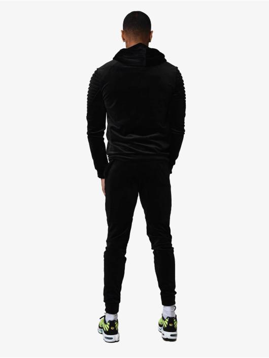 Project X Paris Lightweight Jacket Ribbed Hooded Velvet black