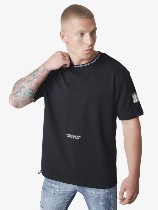 Project X Paris T-Shirt Embroidery Logo Loose black