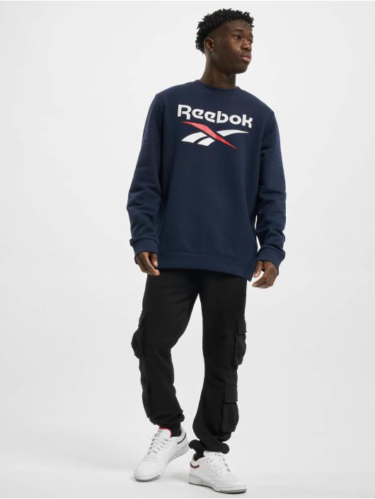 Reebok Pullover Identity French Terry Big Logo blue