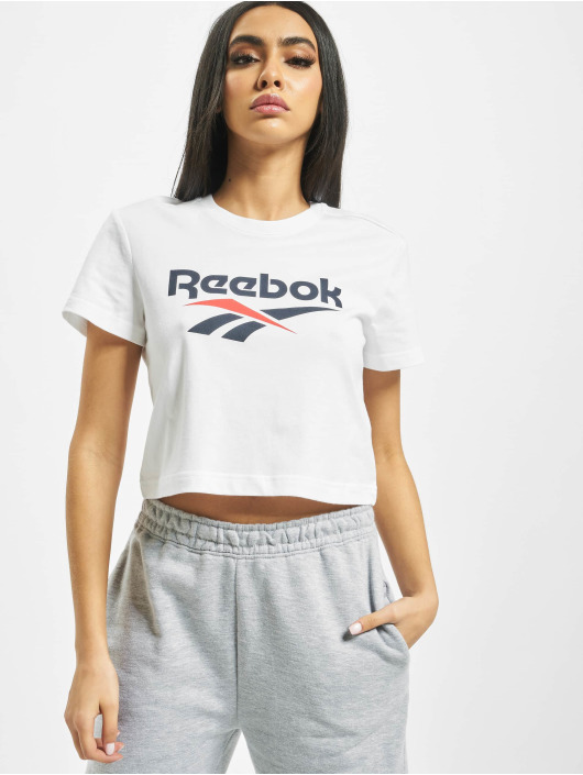 Reebok T-Shirt Classic F Vector Crop white