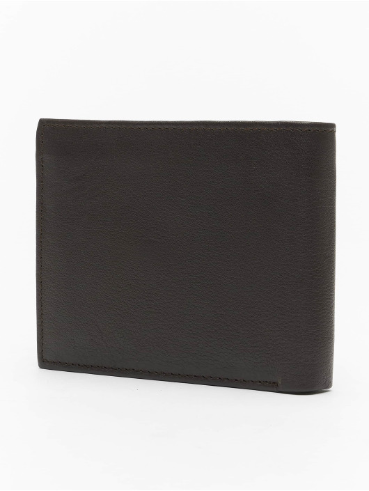Reell Jeans Wallet Button Leather brown