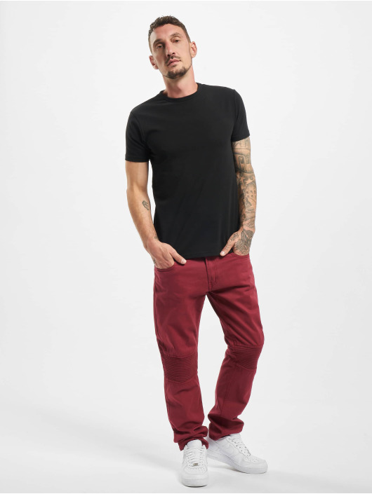 Rocawear Straight Fit Jeans Quilted red