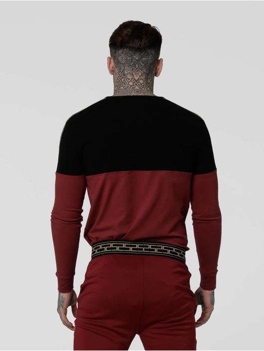 Sik Silk Longsleeve Cartel Cut& Sew Half Tape black