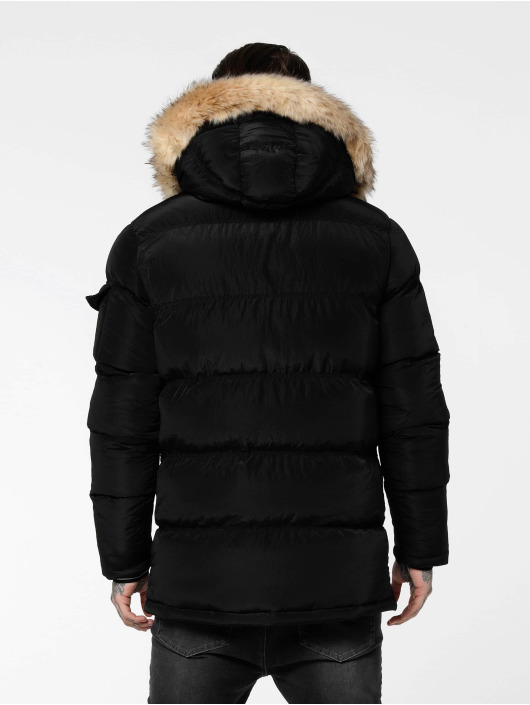 Sik Silk Puffer Jacket Shiny black