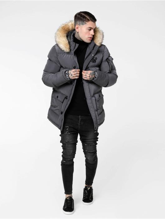 Sik Silk Puffer Jacket Shiny gray