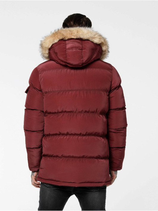 Sik Silk Puffer Jacket Shiny red