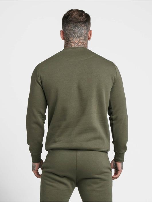 Sik Silk Pullover Crew khaki