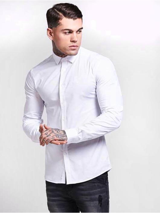 Sik Silk Shirt Cotton Stretch white