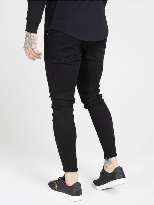 Sik Silk Skinny Jeans Drop Crotch black