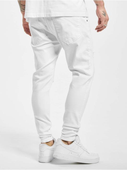 Sik Silk Skinny Jeans Distressed white