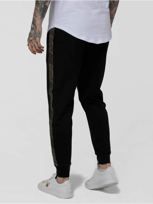 Sik Silk Sweat Pant Golden Edit Cuffed Cropped Runner black