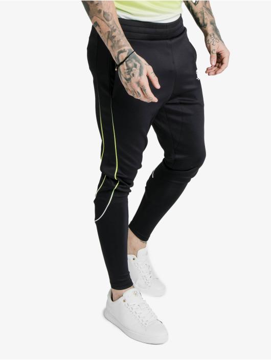 Sik Silk Sweat Pant Tri Fade Tape black