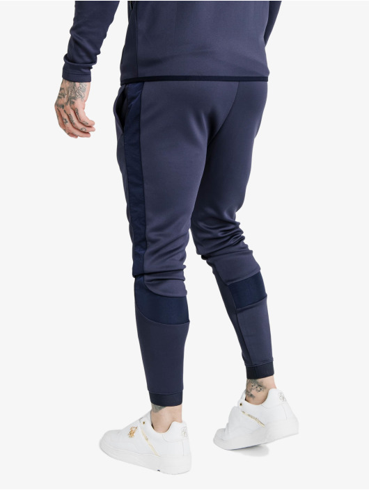 Sik Silk Sweat Pant Creased Nylon blue