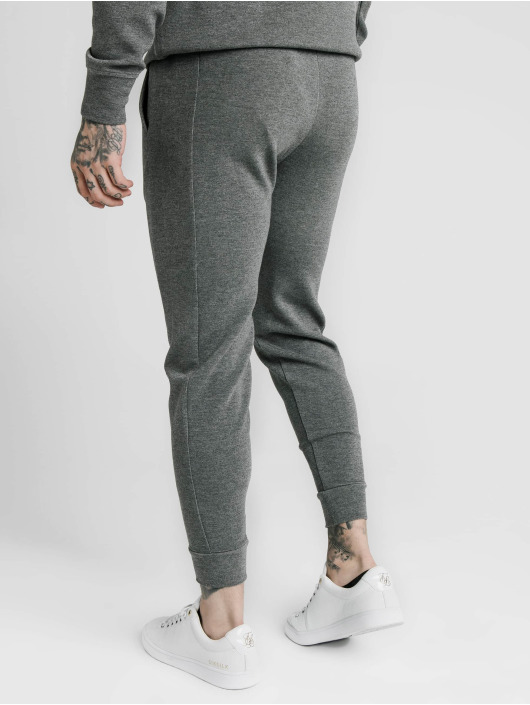 Sik Silk Sweat Pant Fitted Signature gray