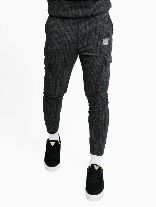 Sik Silk Sweat Pant Tonal Check Cargo gray