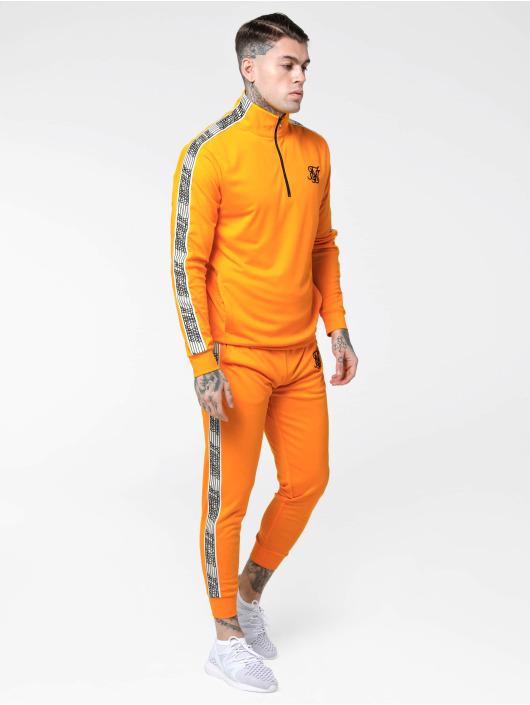 Sik Silk Sweat Pant Cuffed Cropped Runner orange