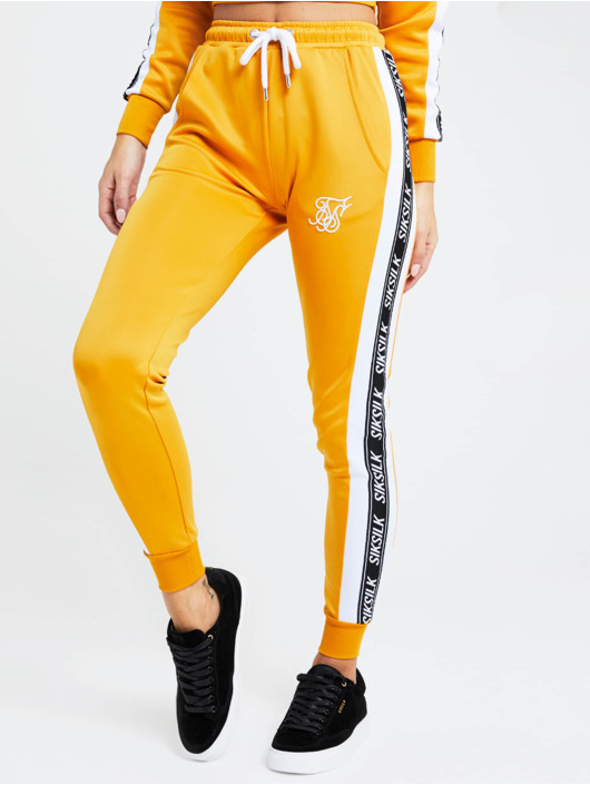 Sik Silk Sweat Pant 90s Panel Poly yellow