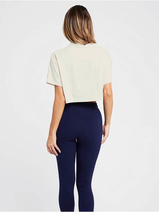 Sik Silk T-Shirt Retro Box Crop beige
