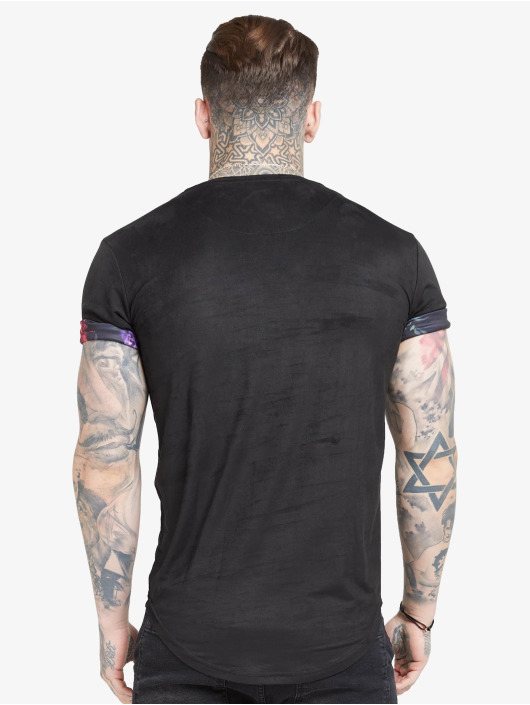 Sik Silk T-Shirt Roll Sleeve black