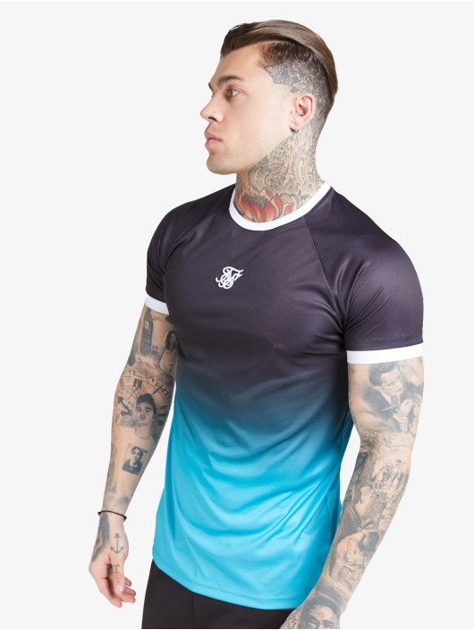 Sik Silk T-Shirt Raglan Straight Hem Fade black