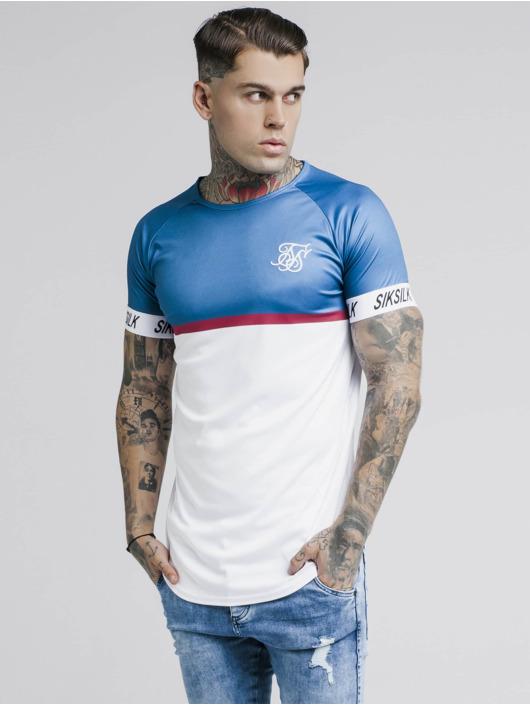 Sik Silk T-Shirt Raglan Stripe Tech blue