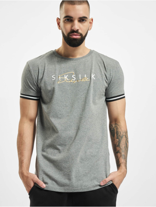 Sik Silk T-Shirt Signature gray