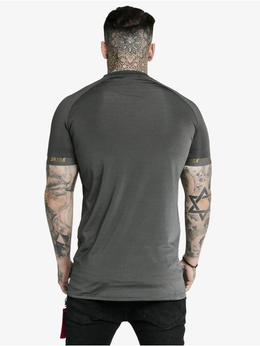 Sik Silk T-Shirt Marbel Stretch Sports gray