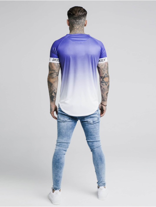 Sik Silk T-Shirt Raglan Fade Tech purple