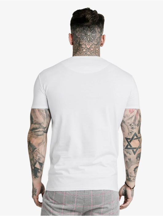 Sik Silk T-Shirt S/S Panel Smart white