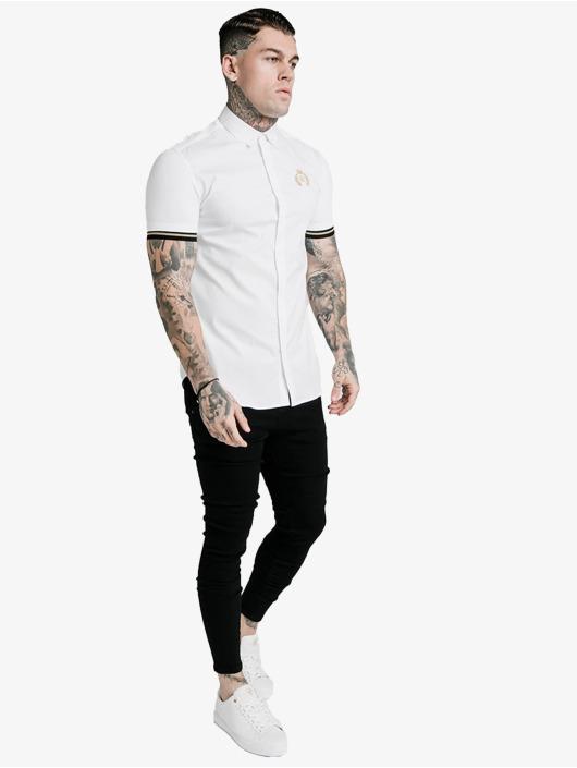 Sik Silk T-Shirt Prestige Inset Cuff white