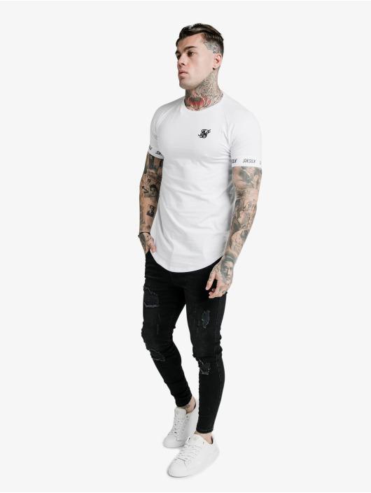 Sik Silk T-Shirt Raglan Tech white