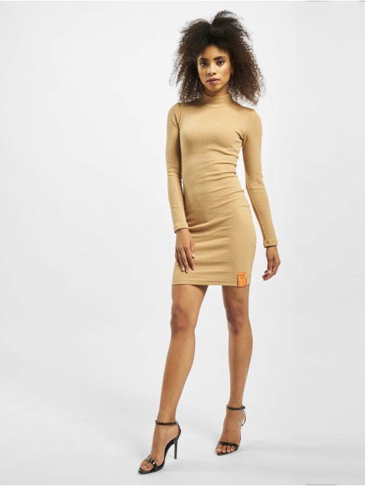 Sixth June Dress Ribbed beige