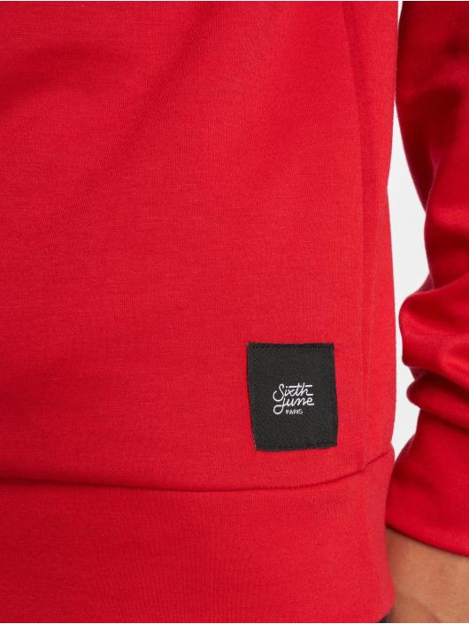 Sixth June Hoodie Logo red