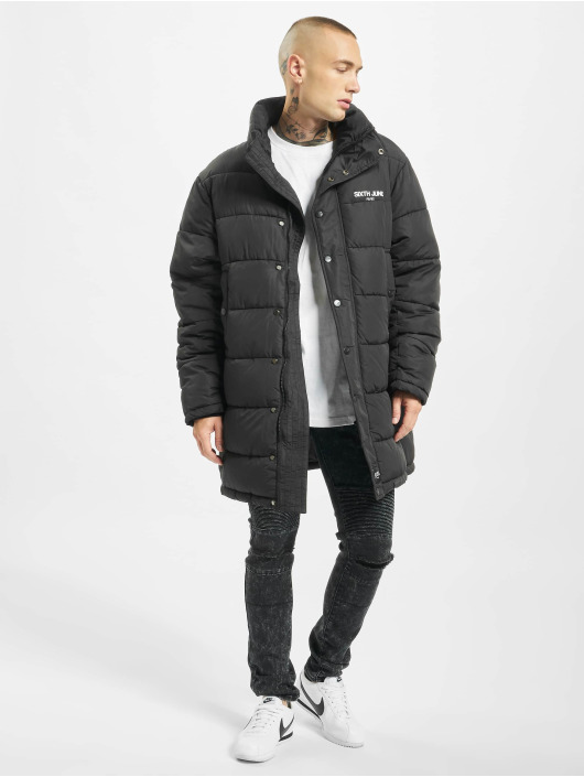 Sixth June Puffer Jacket Long Oversize Down black