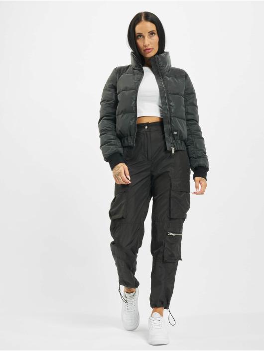 Sixth June Puffer Jacket Short Down With Back Pri black