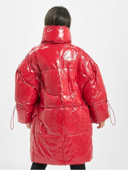 Sixth June Puffer Jacket Long Vinyl Down red