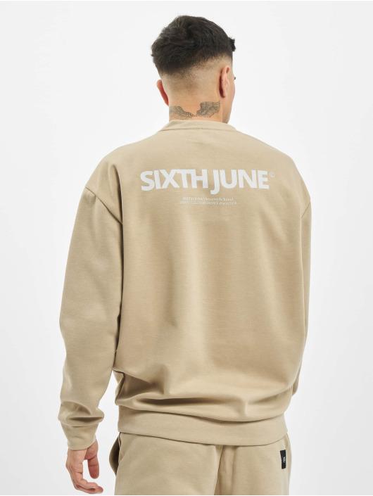 Sixth June Pullover Basic Logo beige